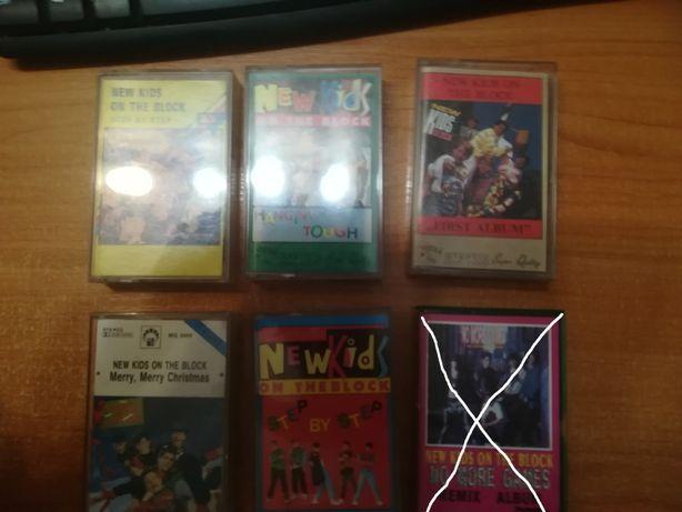 kasety magnetofonowe New Kids On The Block komplet