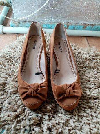 Туфли замш женские
