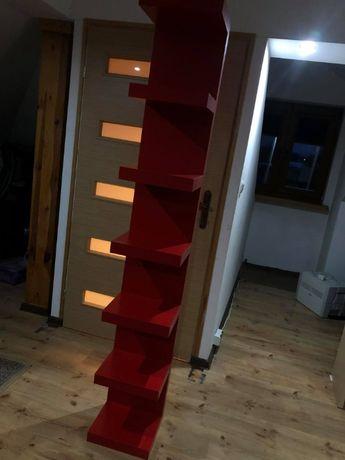 Półka ścienna czerwona Ikea