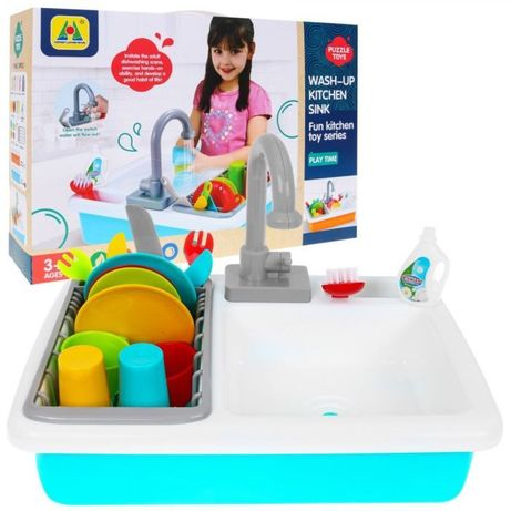 Zestaw Naczyń Dla Dzieci Zlew Z Kranem Na Wodę HG-821