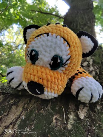 Тигр Тигруля крючком амигуруми символ 2022 года