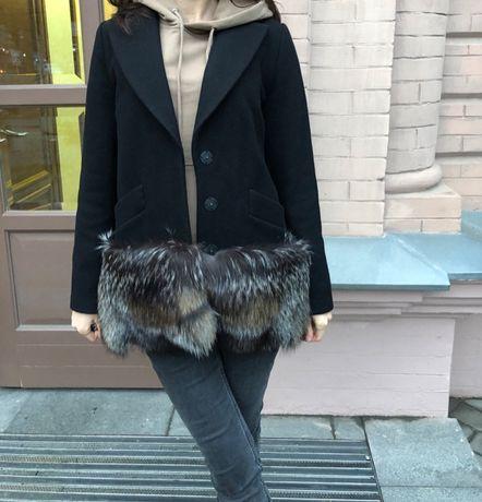 Пальто с чернобуркой