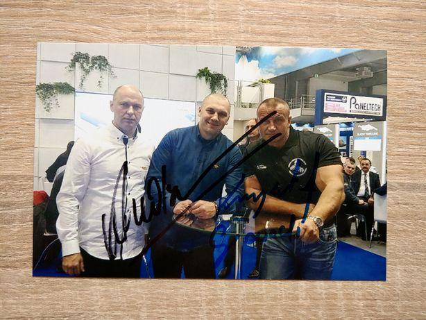 Oryginalny autograf Krzysztof GŁOWACKI i Mariusz PUDZIANOWSKI 2w1