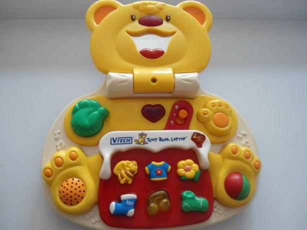 мой первый детский ноутбук vtech мишка teddy