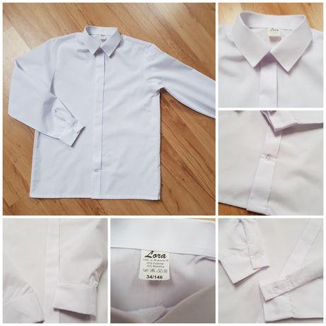 Koszula biała, garniturowa. Rozmiar 146 cm. Stan idealny