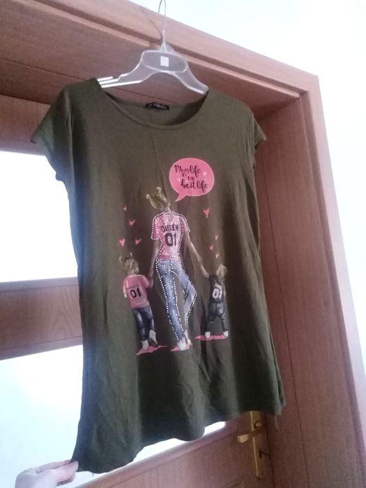 Bluzeczka dla mamy tshirt khaki rodzina rozm. Uniwersalny Łomża - image 1