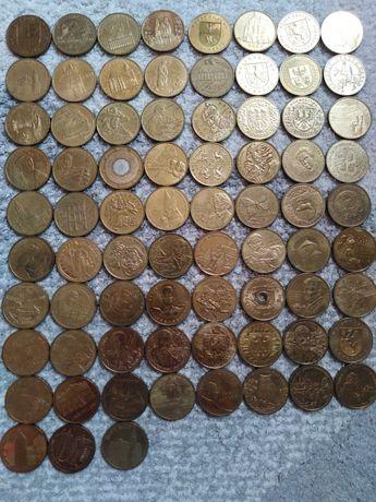 Monety 2 zł okolicznościowe 75 sztuk od 1998 do 2007 roku