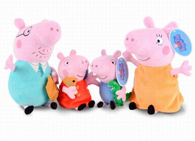 Игрушка Свинка Пеппа/Джордж 25см Peppa мама плюшевая семья/папа свин