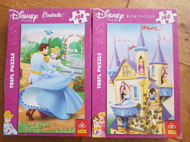 Puzzle księżniczki kopciuszek cena za 2 szt