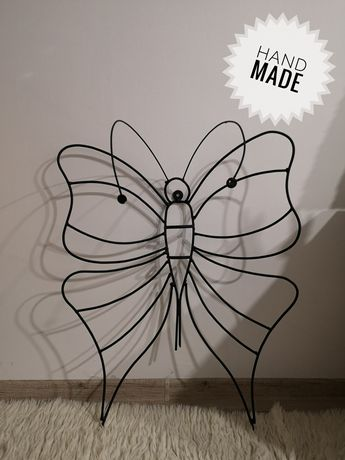Motyl dekoracyjny metalowy Handmade