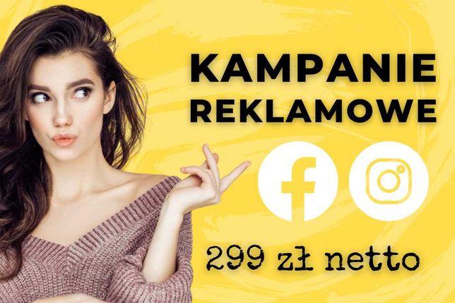 Kampanie reklamowe na Facebooku i Instagramie
