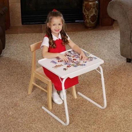 Столик для кормления детский, для еды, складной БЕЛЫЙ раскладной стол