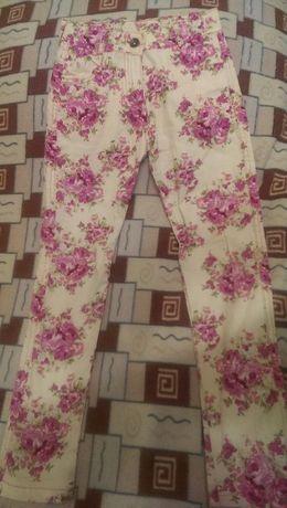 Цветные джинсы на 9-10 лет