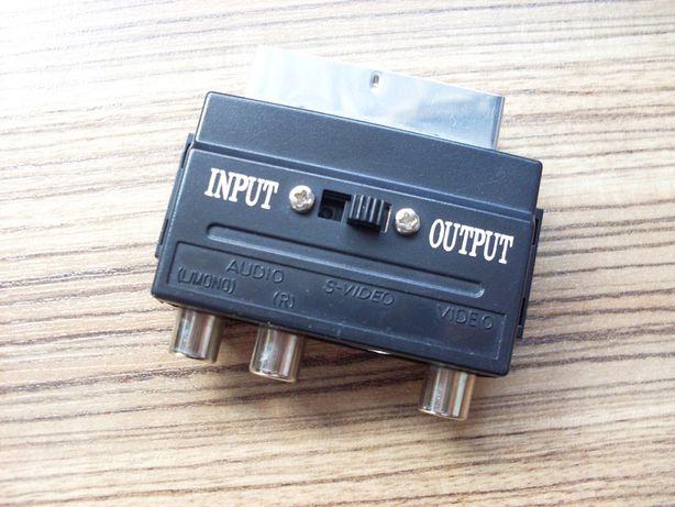 Adapter przejściówka SCART-3 x AV CHINCH + S-Video