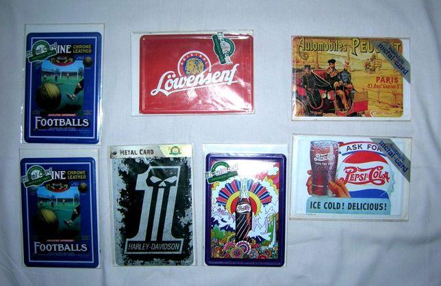 Metal Card (kartki metalowe) nowe - 7 sztuk.