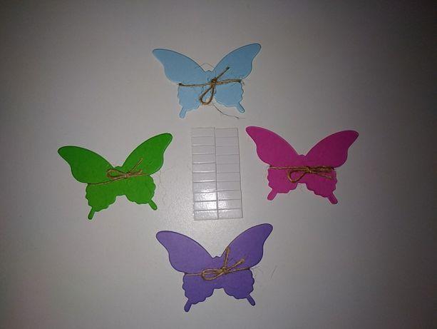20 шт цветные бумажные бабочки декор окна стены