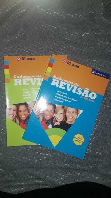 """""""Cadernos de revisão"""" 8ºano Volumes 1 e 2 (multidisciplinas)"""