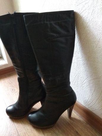 Сапоги зимние натуральная кожа и мех 38р.