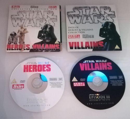 2 DVD Star Wars Heroes & Villians Gwiezdne wojny
