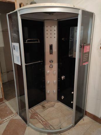 Kabina półokrągła prysznicowa 88 x 88 x 215 hydromasażem Kerra Laura
