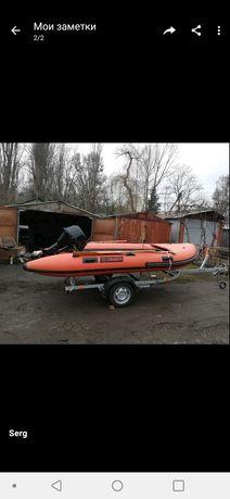 Лодка, лафет, мотор лодочный