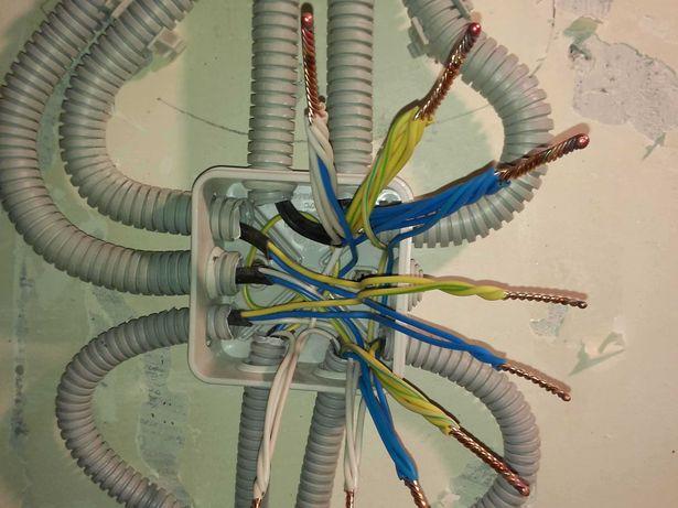 Замена проводки в квартирах, домах, офисах.