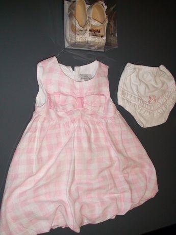 Vestido e sapatos Mayoral de cerimónia bebé