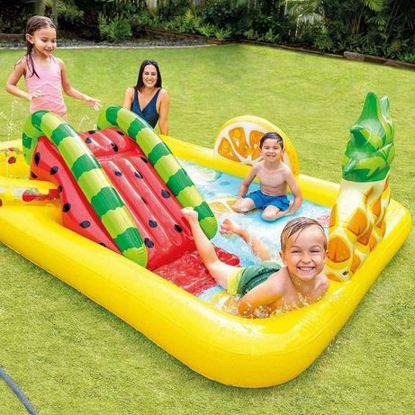 Детская Водная площадка бассейн горка intex
