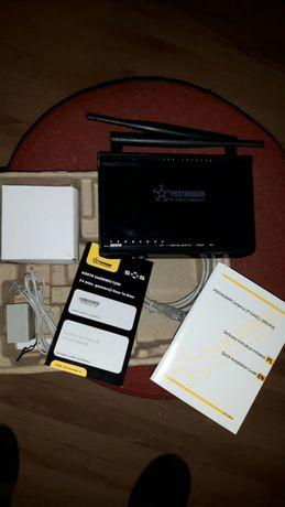 Modem router ADSL,XDSL Pentagram cerberus p 6343 bezprzewodowy