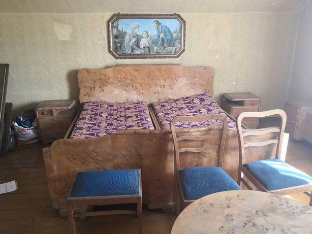 Piękny duży komplet mebli do sypialni z lat 50