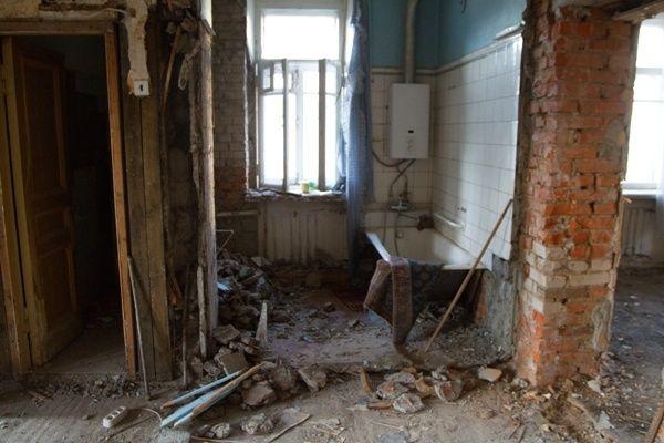 Демонтаж стен, полов, перегородок. Вывоз мусора