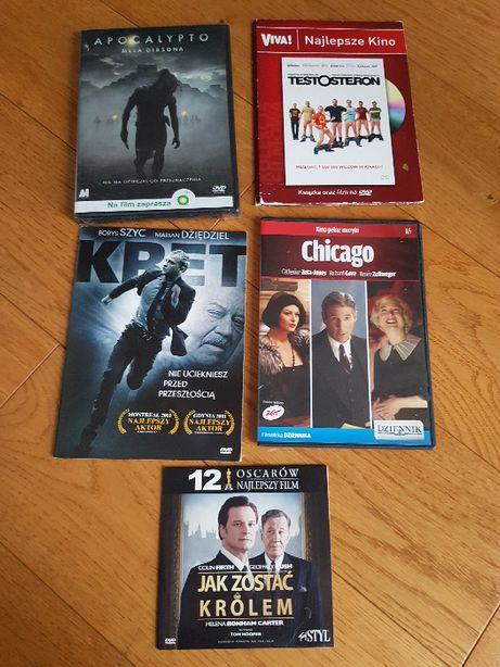 Filmy DVD Kret, Apocalypto, Testosteron, Chicago, Jak zostac krolem