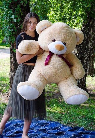 Подарок девушке огромный плюшевый медведь мишка