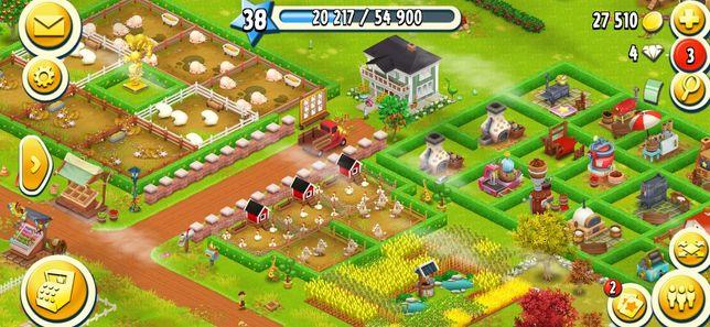 Продам ферму Hay Day 38 lvl.