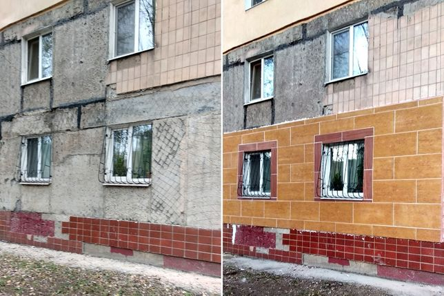 Утепление стен фасада термопанели (гибкий камень)
