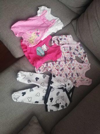 Ubranka niemowlęce dla dziewczynki 56 cm