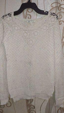 Красивый вязаный женский свитер 160-164 рост ХС-С