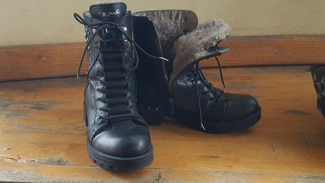 Зимние кожаные ботинки K.Pafi 32р-р