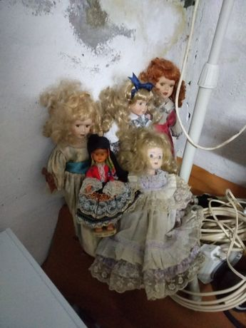 Bonecas em porcelana antigas e raras