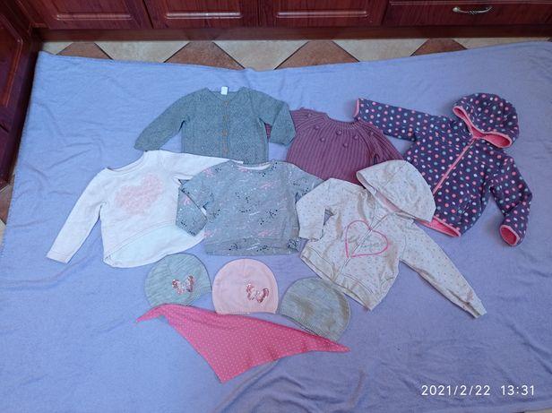 Zestaw 10 szt markowych ubranek bluza polar Cool Club roz. 92