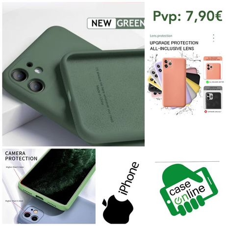 Capa Silky Soft Touch iPhone 11 / X / XS / XR -Verde Tropa-24h
