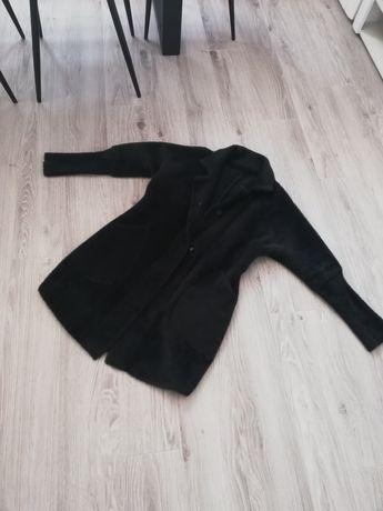 Nowy płaszcz alpaka butelkowa zieleń