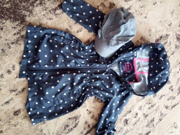 kurtka parka dla dziewczynki 4-5 lat + czapka