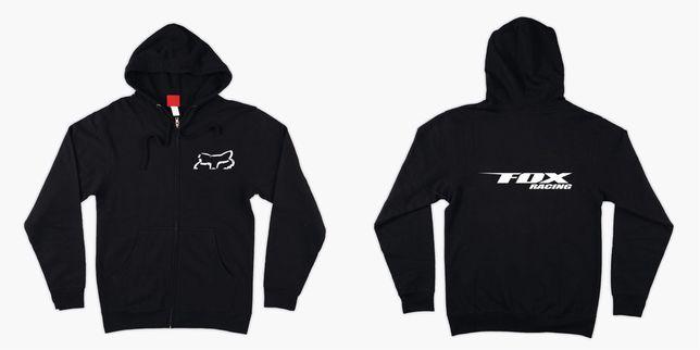 Bluza rozpinana z logo Fox Racing z kapturem