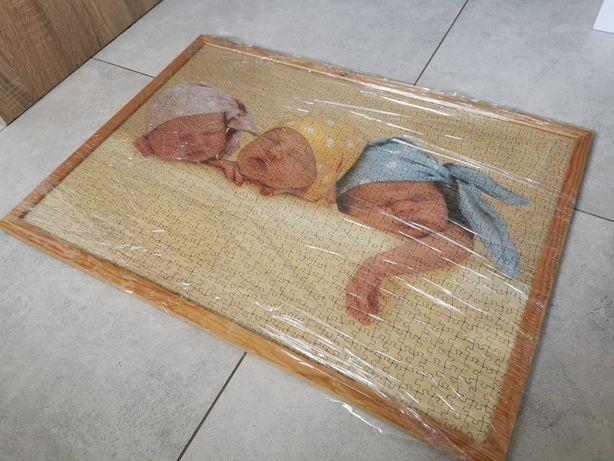 Puzzle w ramce Anne Geddes 1000 szt. Śpiące dzieci