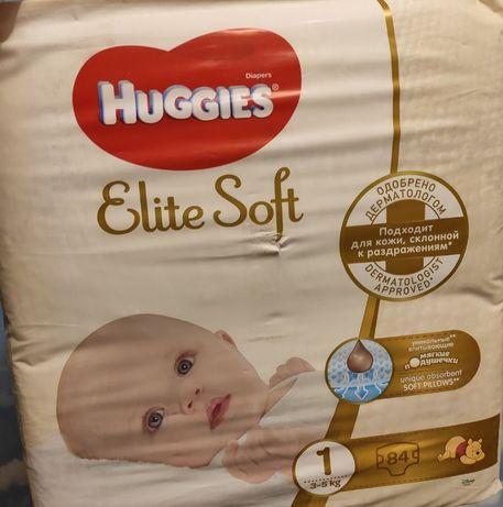 Подгузники huggies elite soft 1 - 75шт.Россия 1шт-3.5