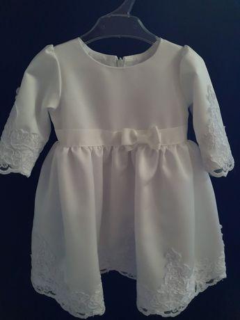Sukienka biała 62/68 chrzest