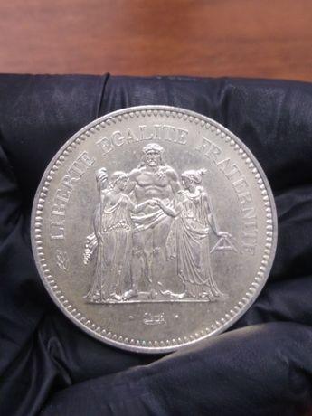 50 Franków Herkules 1974 srebro