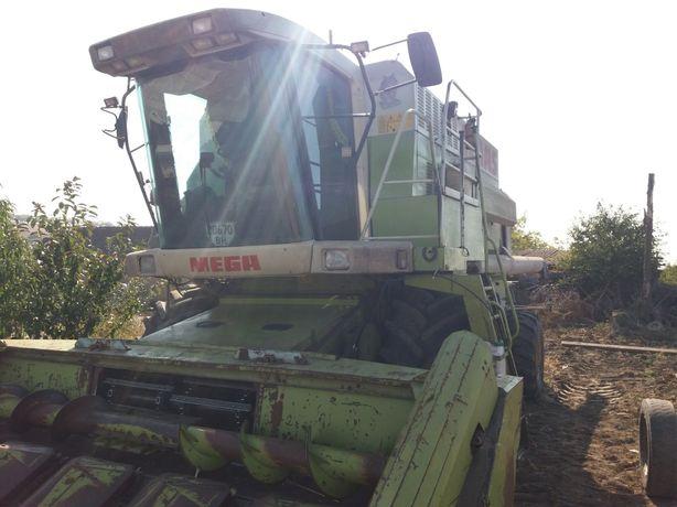 Услуги комбайна, уборка урожая кукурузы, подсолнуха
