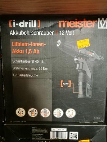 Wkrętarka akumulatorowa MEISTER Nowa!!! Okazja!!!